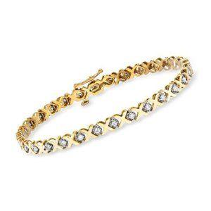 COPY - XO White Sapphires 14K Yellow Gold Tennis …